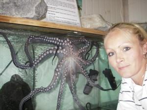Megan Bosch and Octavia, the Octupus.