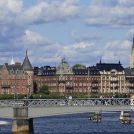 Stockholm Skyline vom Wasser aus