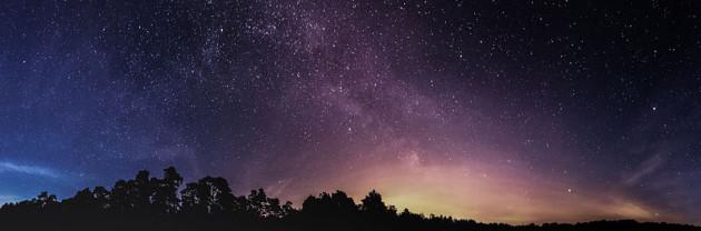 Teil des Sternenhimmels (~280°) bei Brandenburg an der Havel um Mitternacht