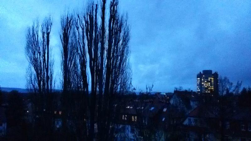 Wintermorgen über Göttingen