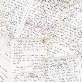 Nietzsche Faksimile KGW IX 1 3 N VII 1 Probe 1bis 4, gemeinfrei. Collage von Silke Hartmann